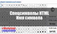 Специальные символы HTML | Полезные знаки и символы