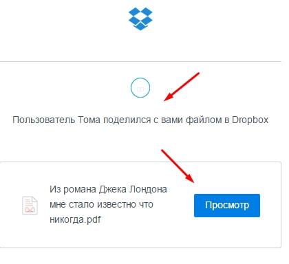 Спам Dropbox